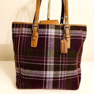 Coach Plaid Tote